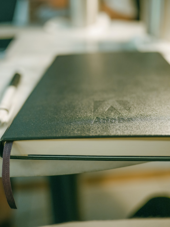 book beside pen