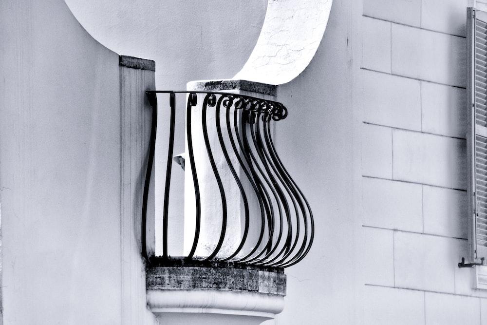 black railings