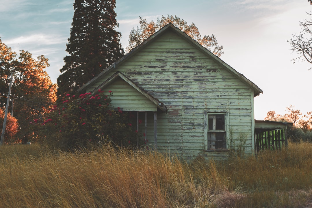 This abandoned house is a real beauty. Between the pastel green color and the massive rose bush that has invaded the front entrance, this gem deserves to be seen on the internet. Taken in the small town of Perrydale, Oregon.
