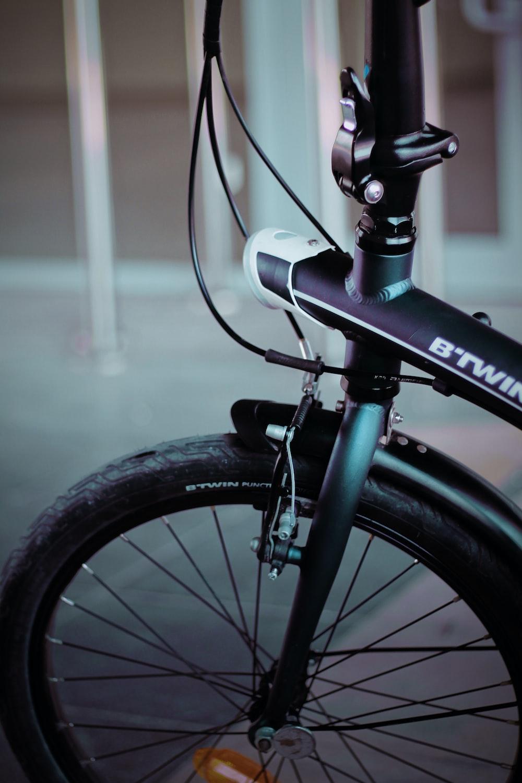 black and gray bike near bars
