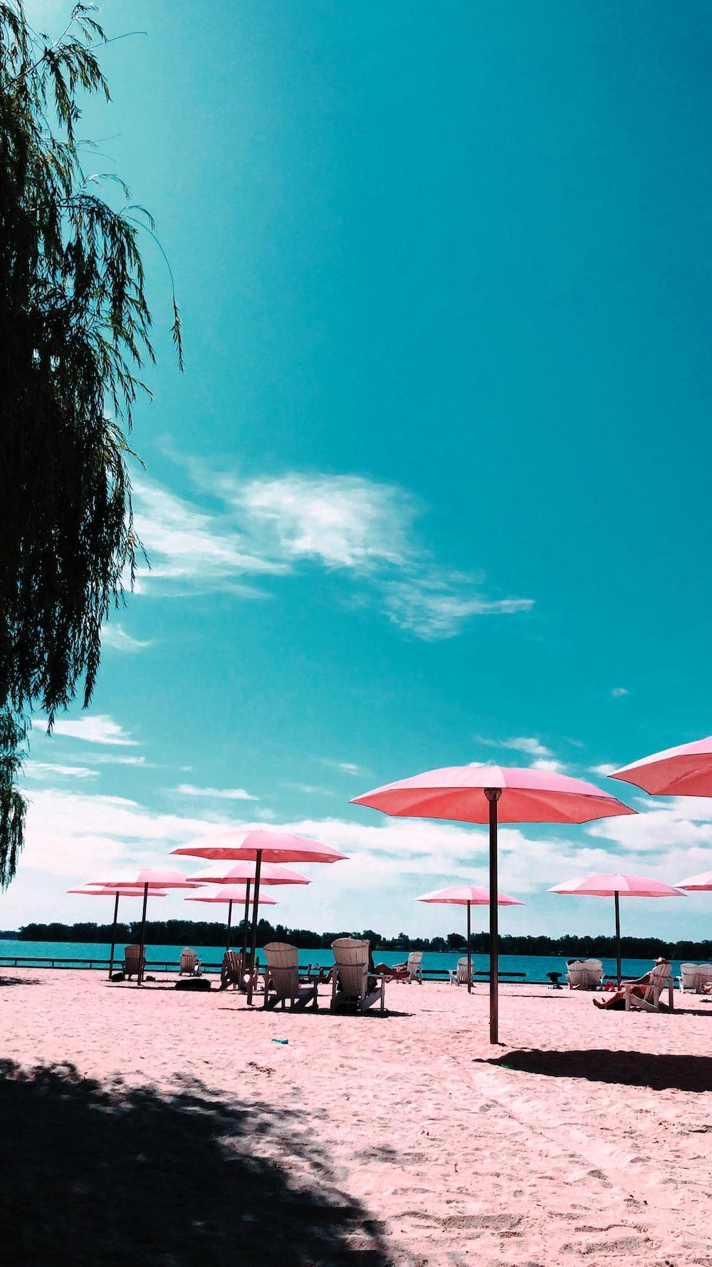 pink patio umbrellas