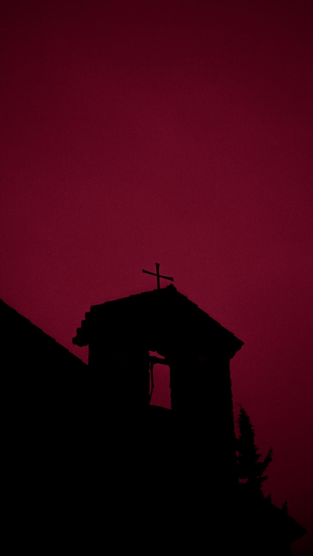 cross during nighttime