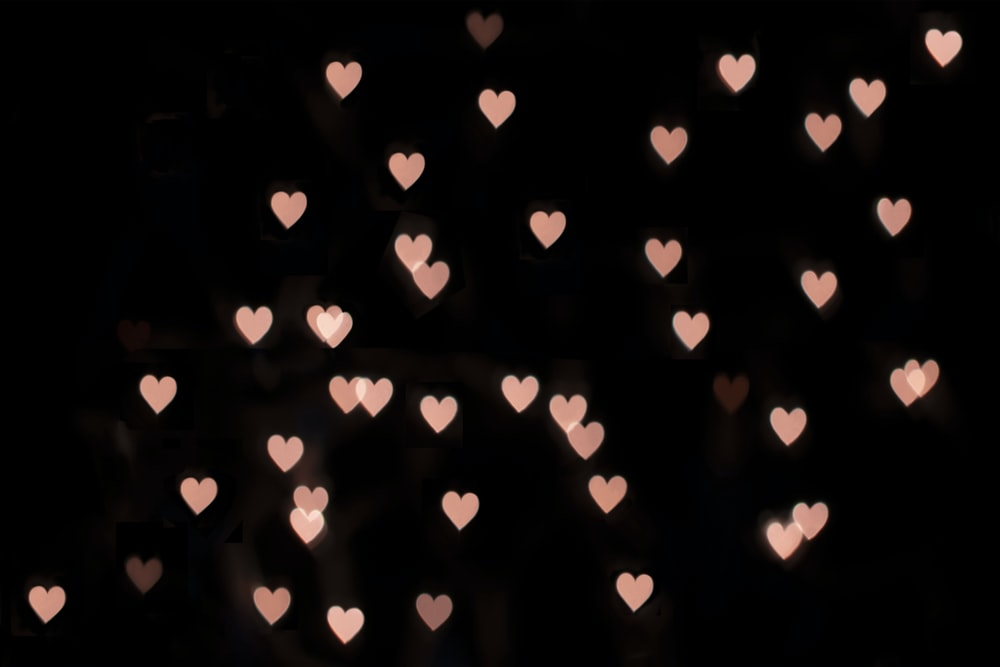 pink hearts illustration