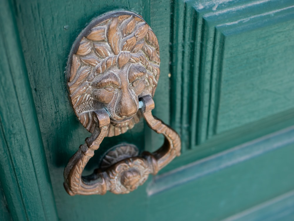 brown door knocker