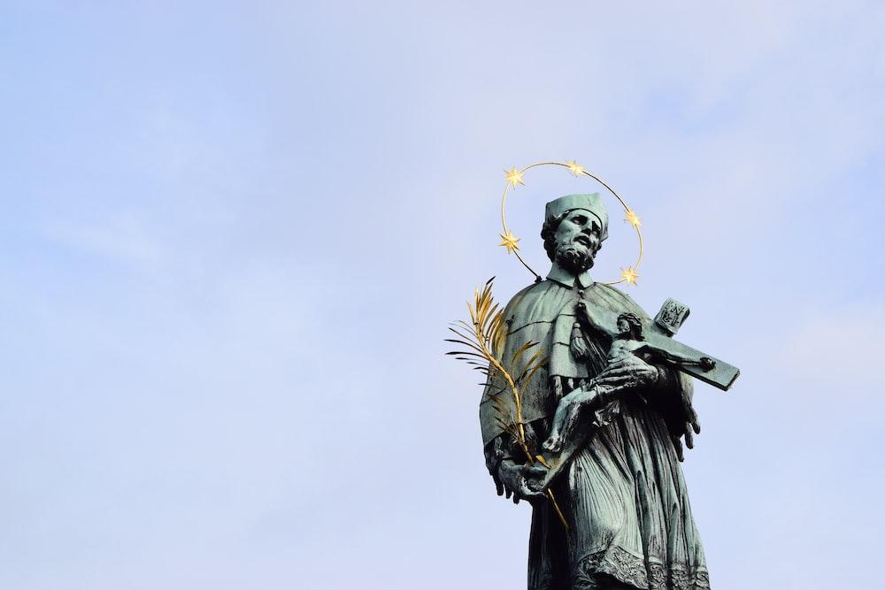 St. John of Nepomuk Statue in Prague.
