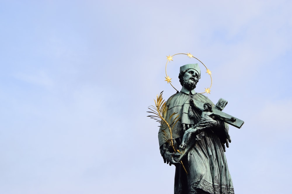 St. John of Nepomuk Statue in Prague.