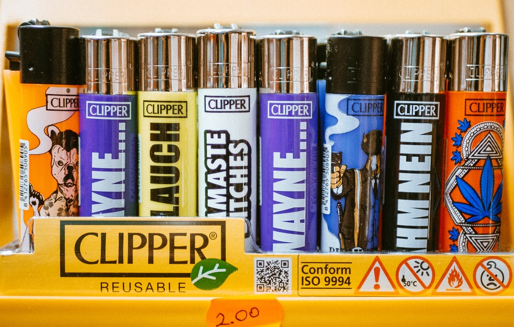 assorted-color Clipper disposable lighters