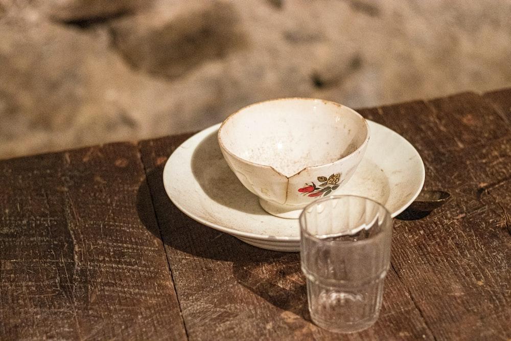 teacup on saucer