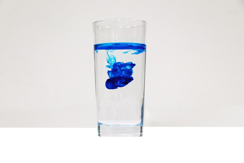 full-filled drinking glass