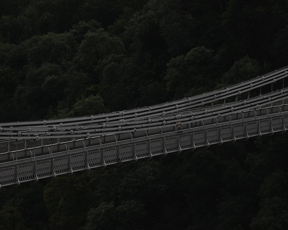 gray bridge during day