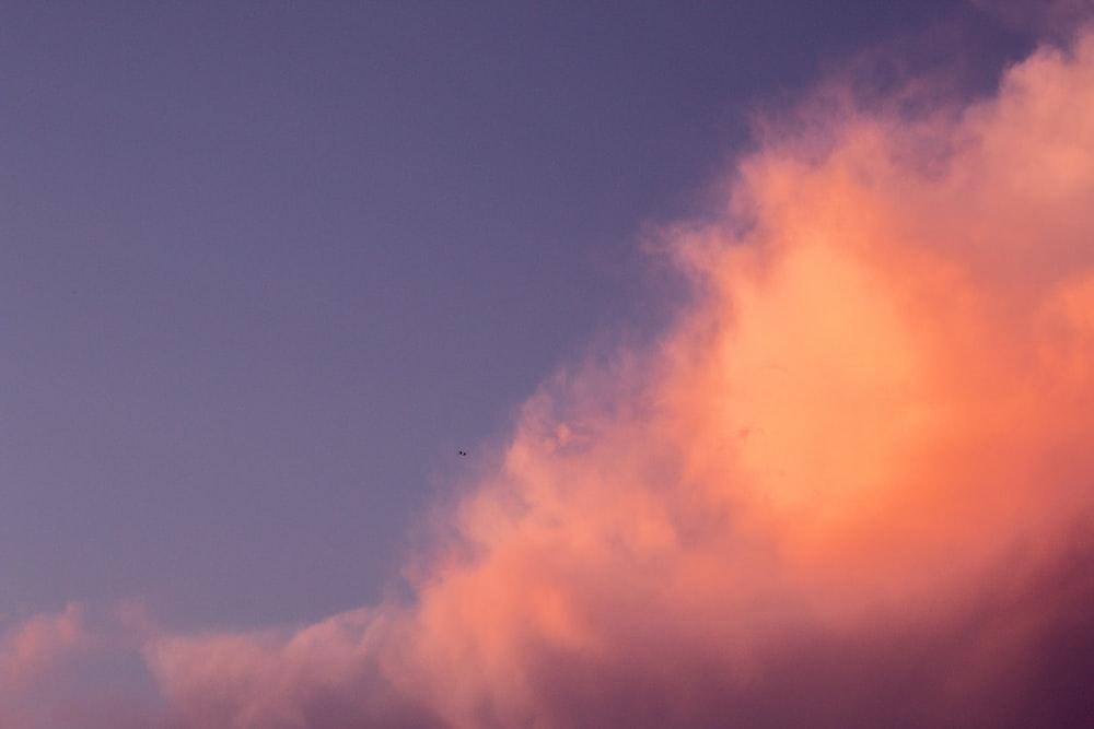 orange clouds wallpaper
