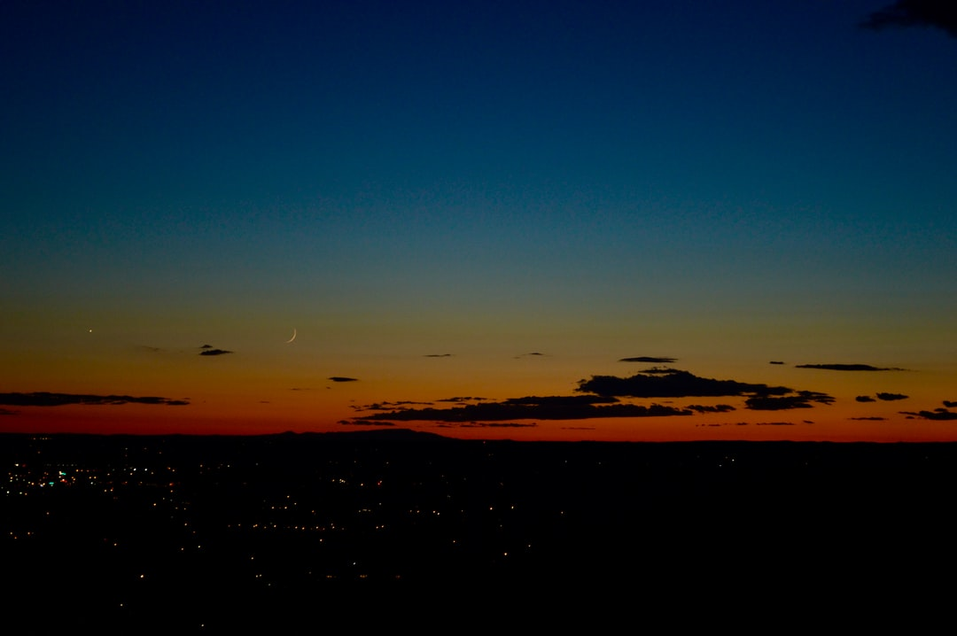 Sunset with a celestial body