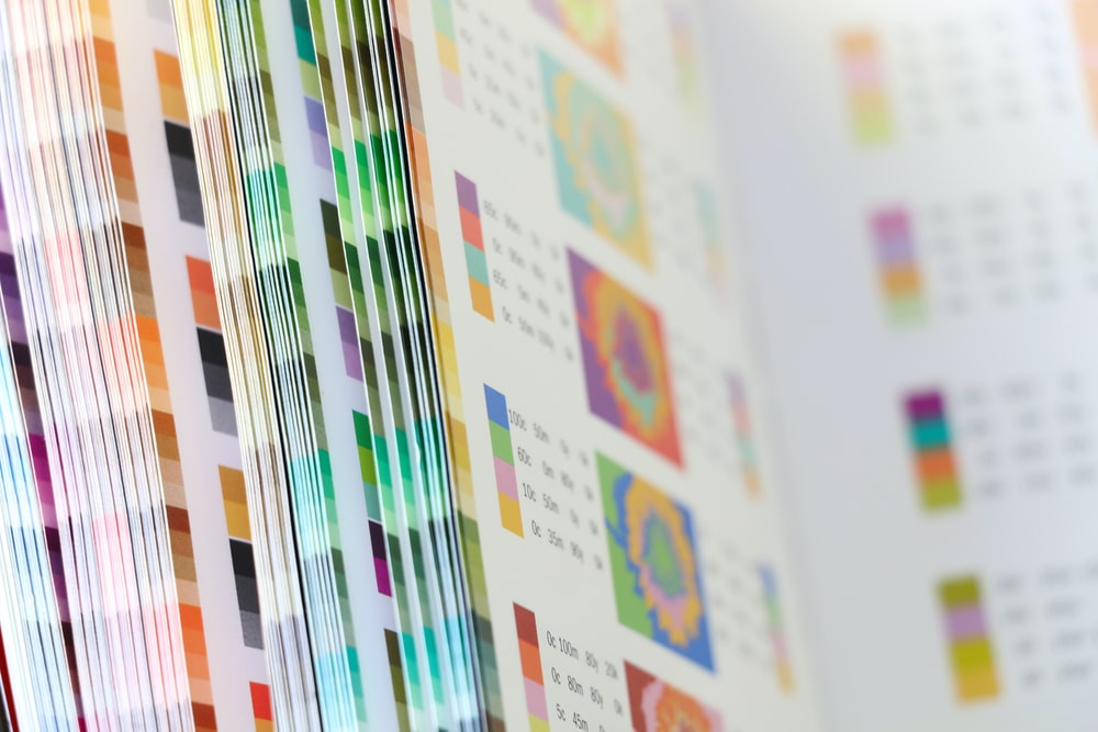 white and purple printer paper