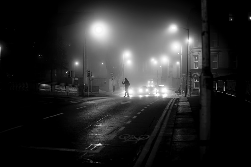man passing by the road