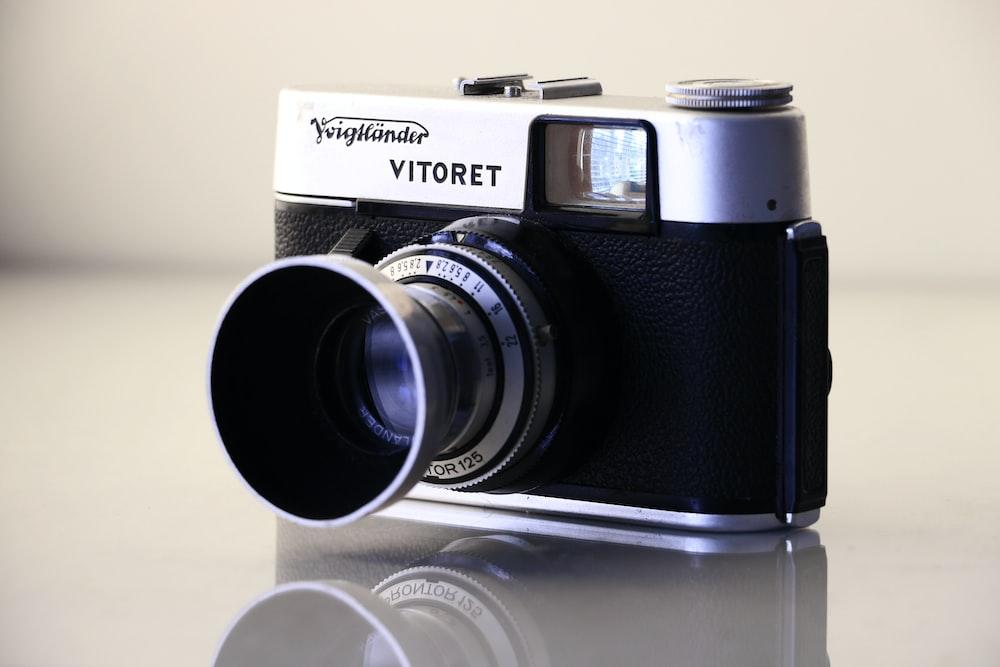 black and gray Vitoret SLR camera