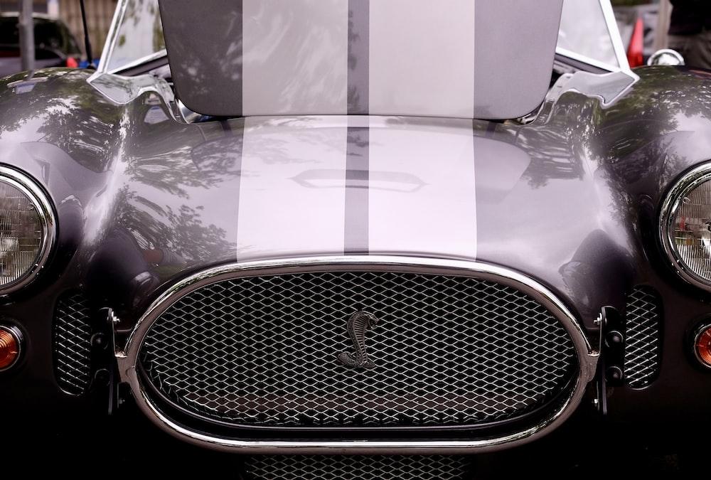 closeup photo of silver vehicle