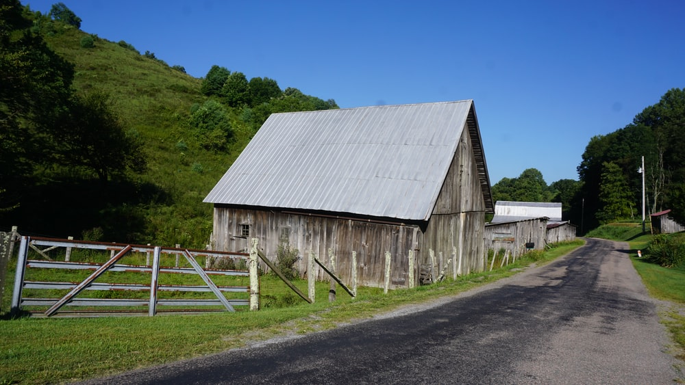 gray wooden barn