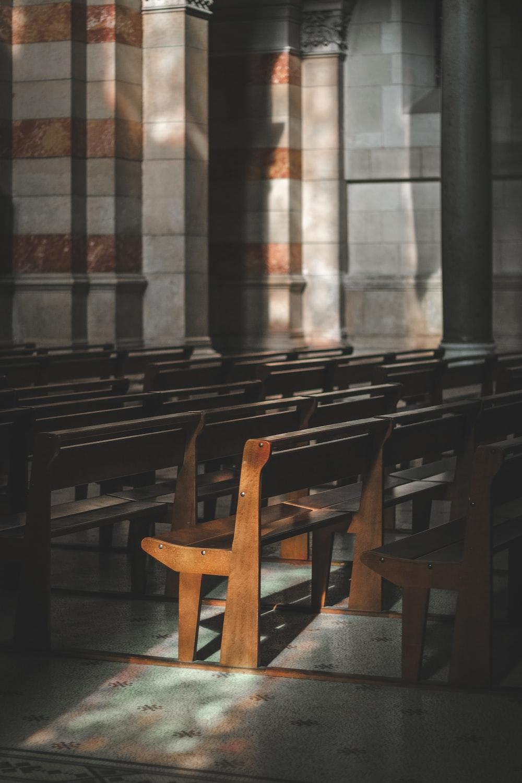 empty church pew