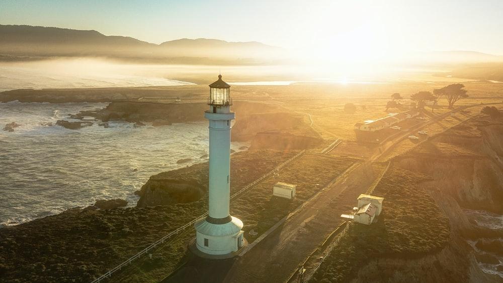 lighthouse near water