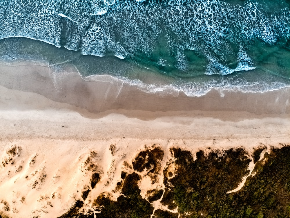 aerial photography beach