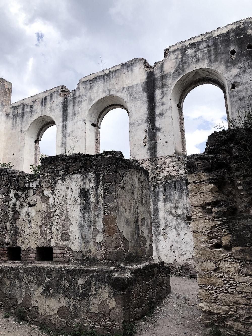 gray ruins historic building