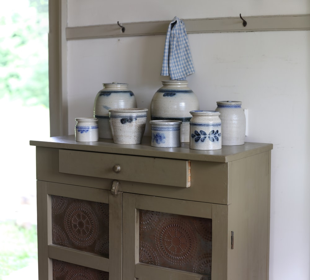 white canisters