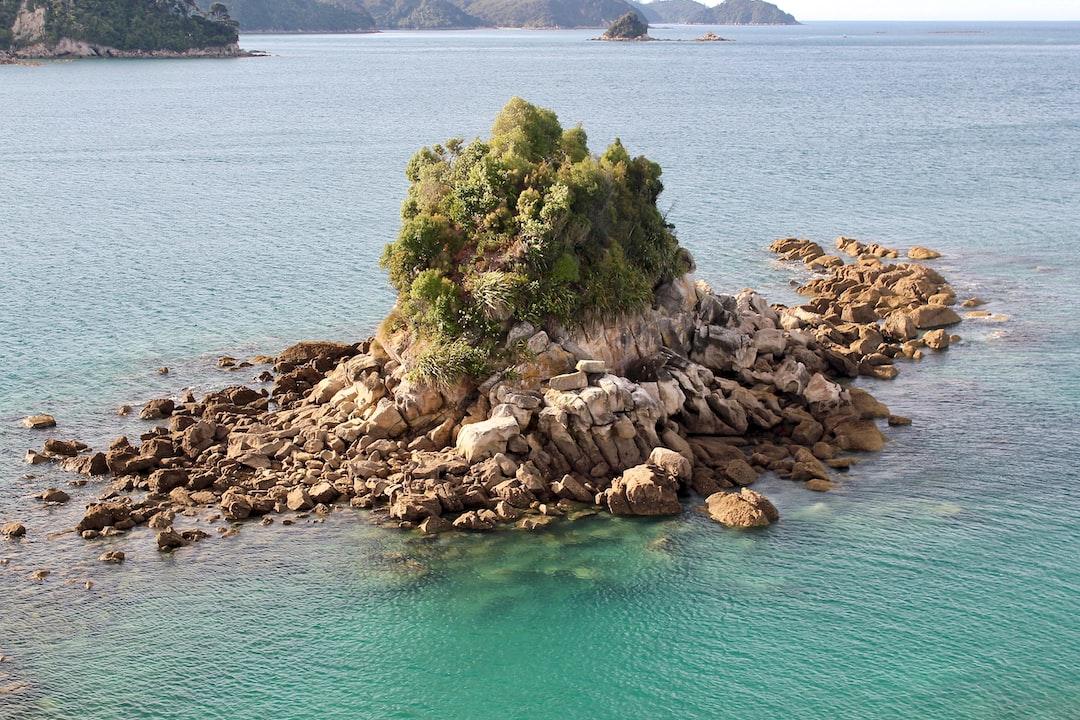 A little islet near Pitt Head in Abel Tasman national park, New Zealand