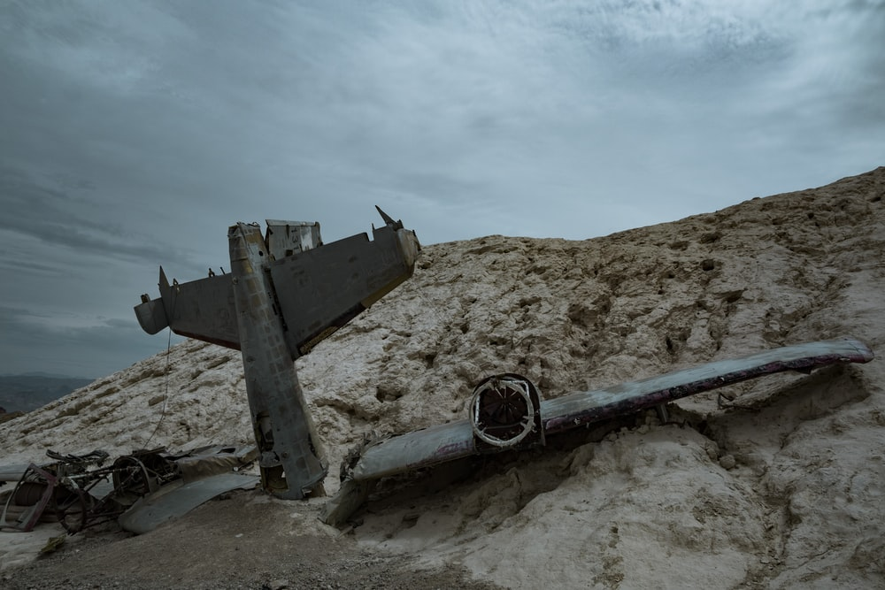 plane wreckage in brown hill