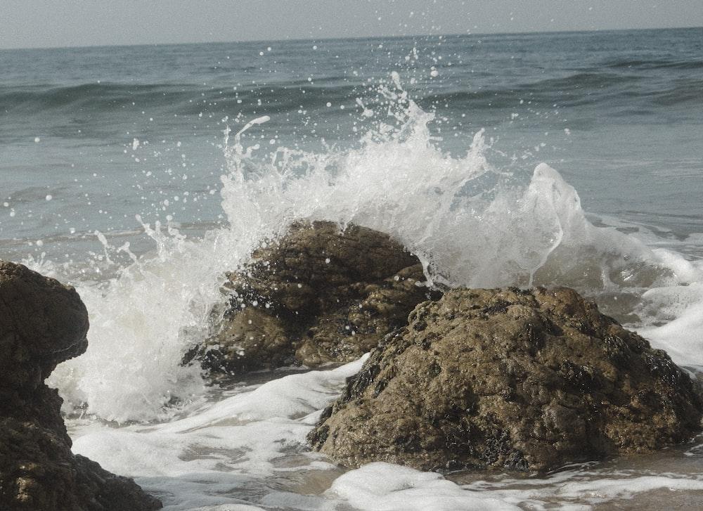 splashing waters on rack