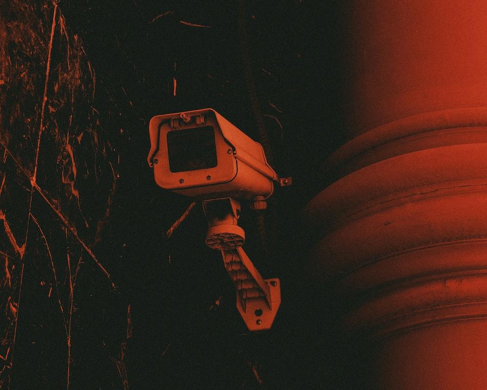 white bullet-type camera