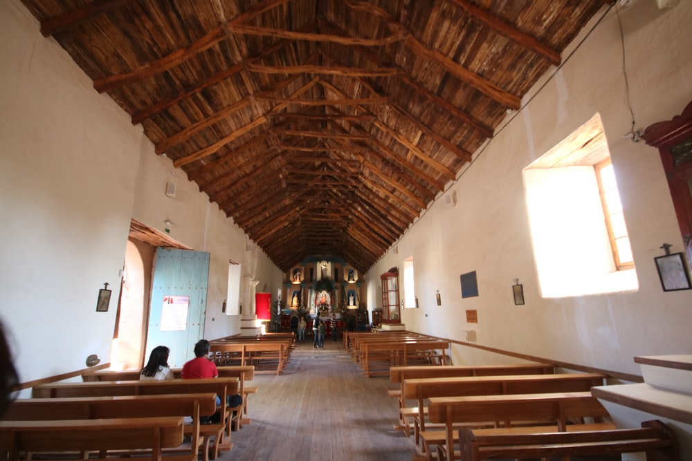 brown and white chapel interior photo