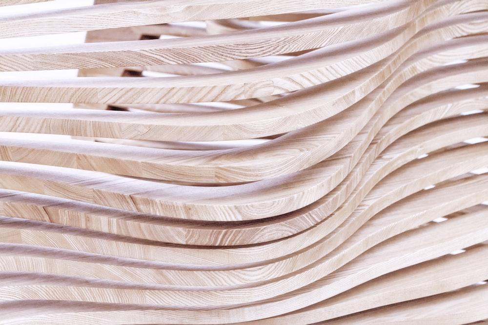 beige wooden frame