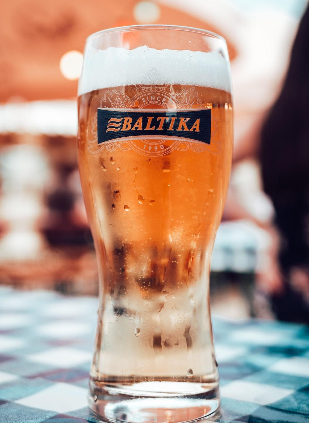 Baltika drinking glass photo