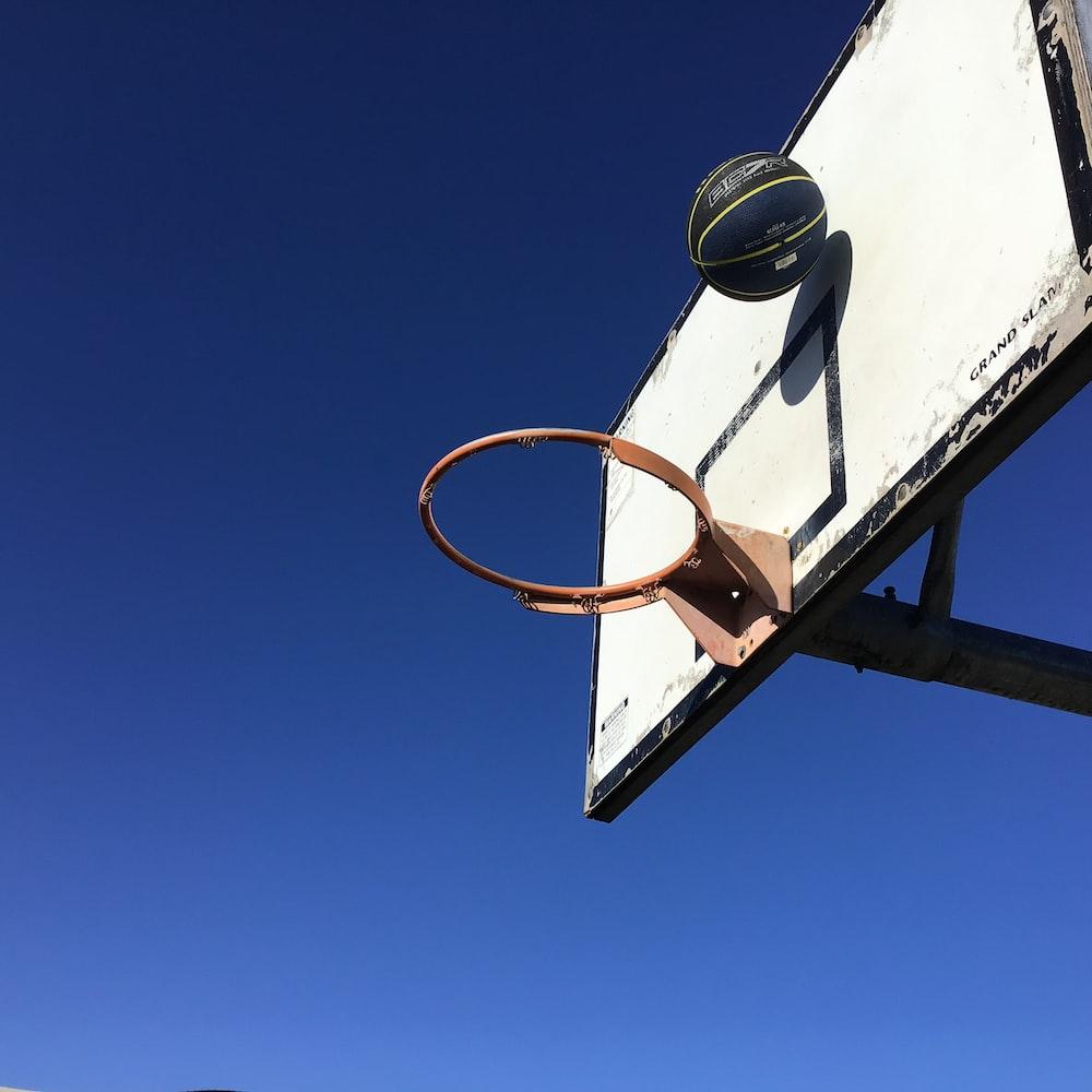 basketball rim and black basketball