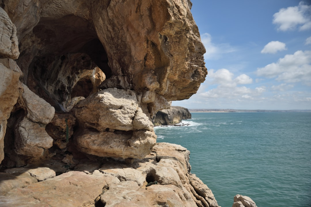 Exploring  the costal pathway around the headland near the lighthouse at Peniche in Portugal.