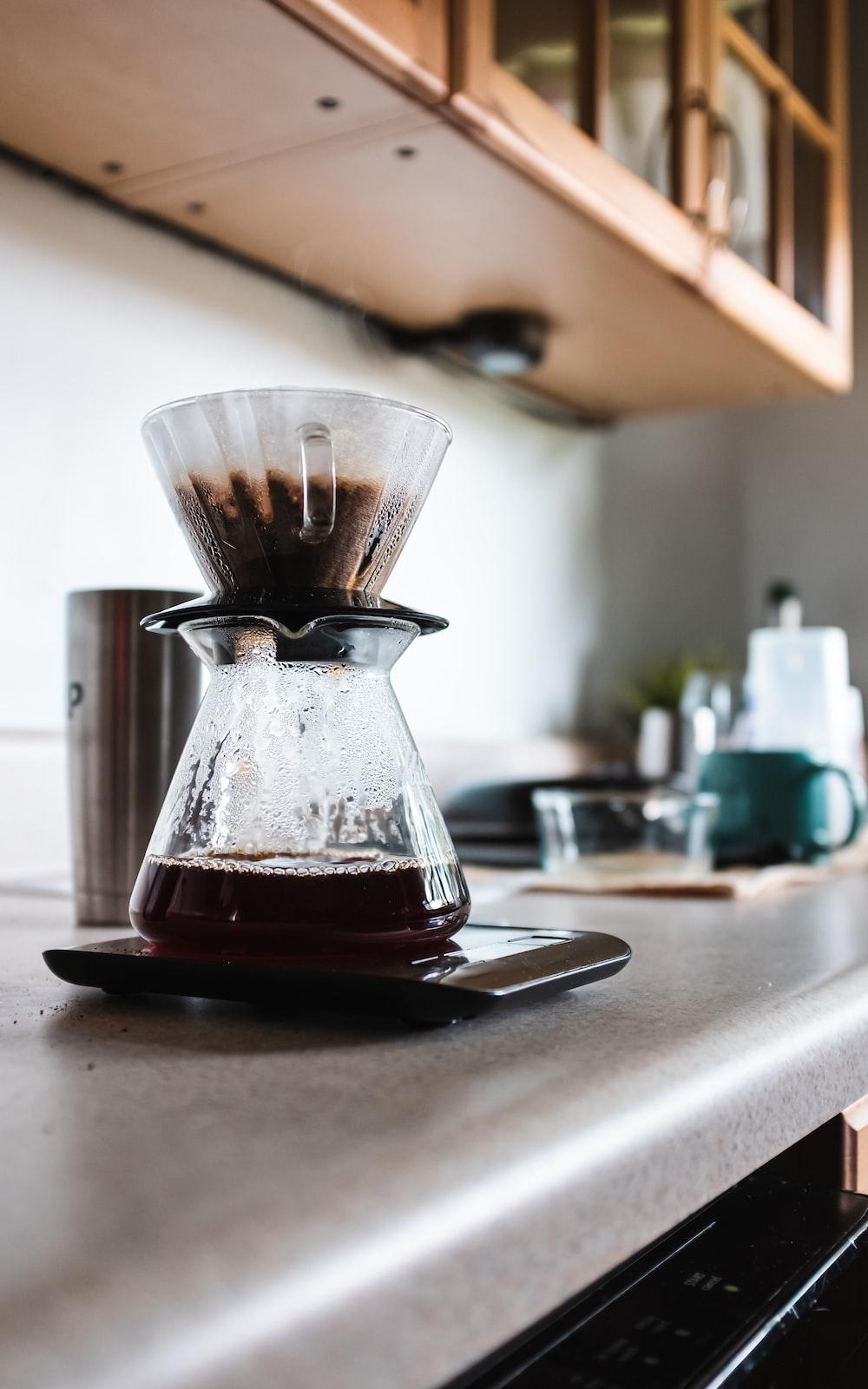 coffee being brewed in coffeemaker