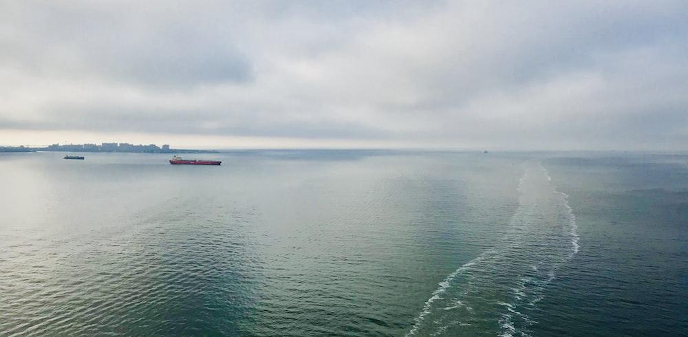 two sea vessels in sea