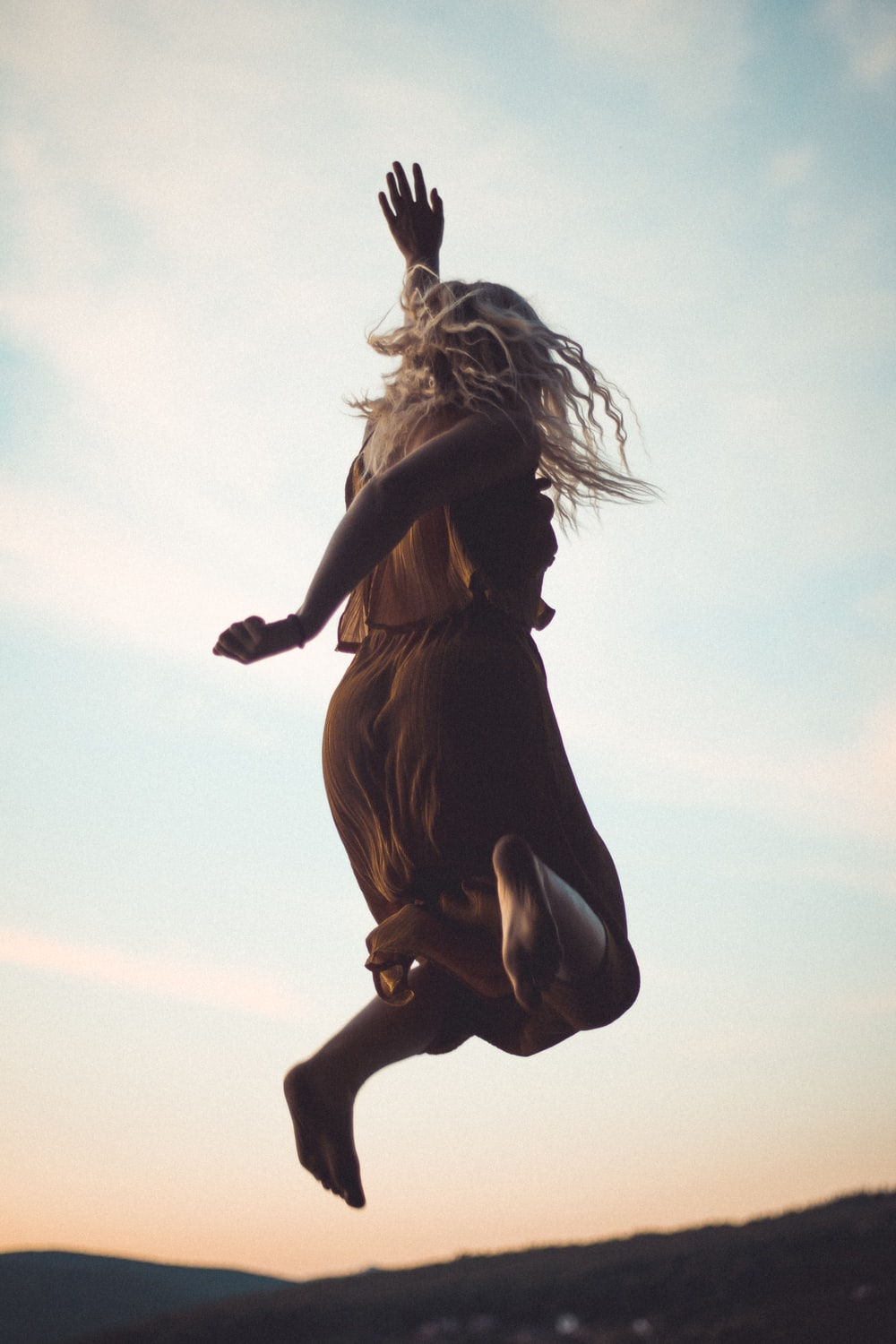 woman in jumping position