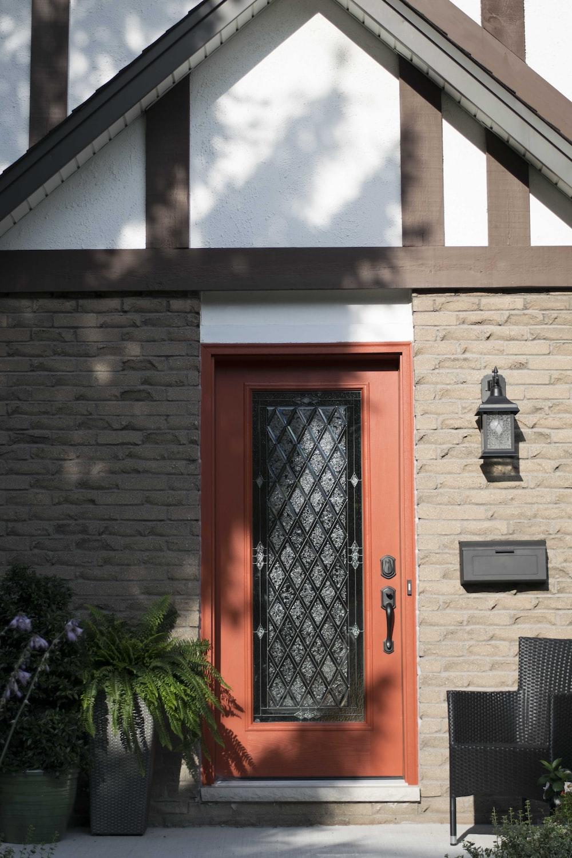 closed house door