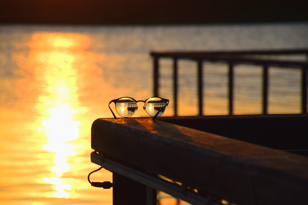 eyeglasses on dock