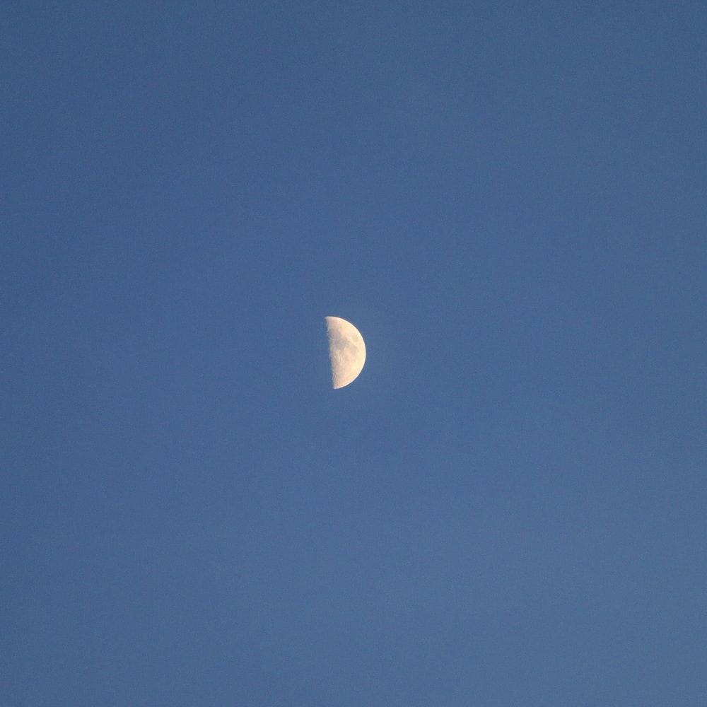 half-moon close-up photography