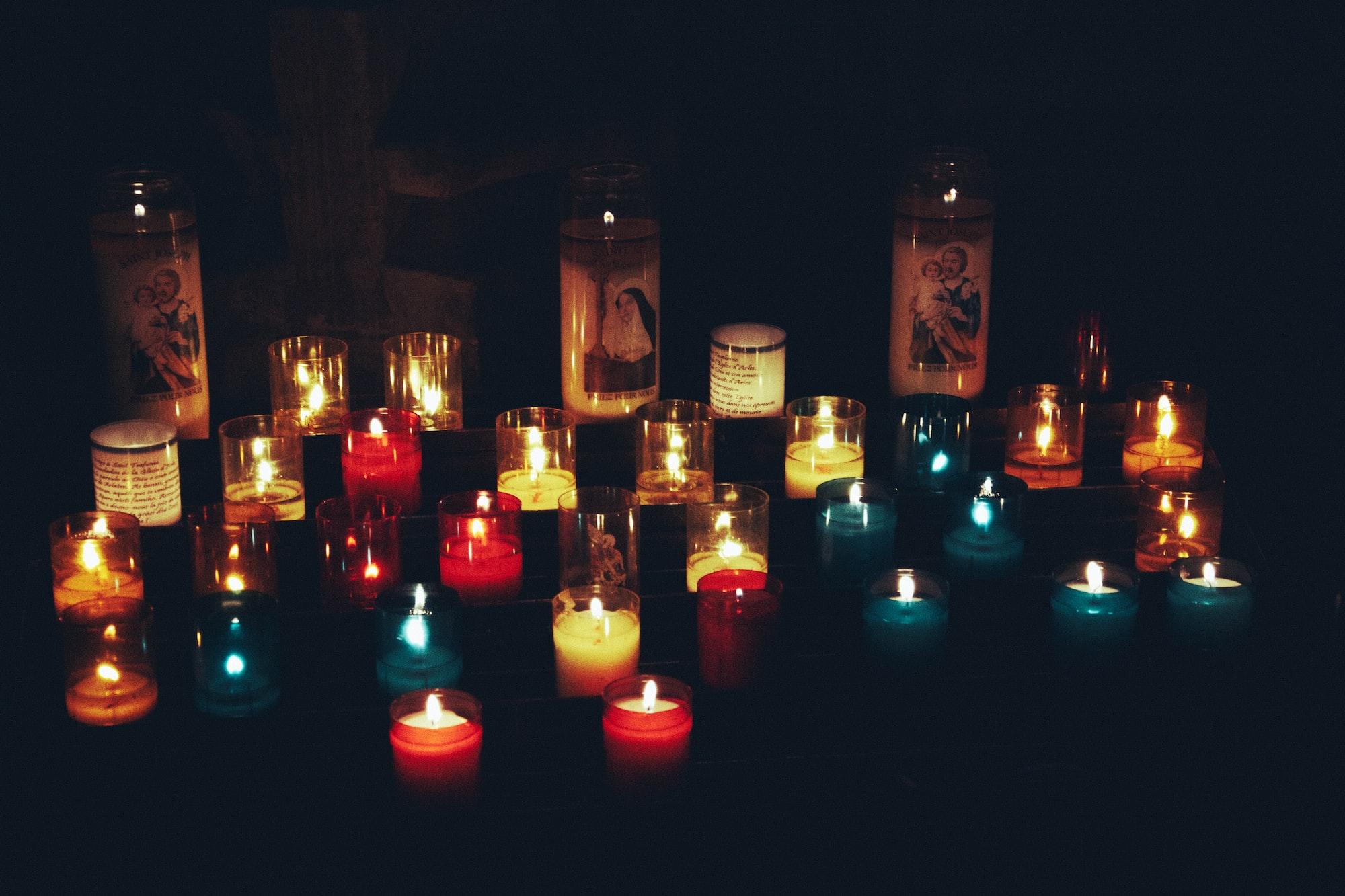Декоративные свечи хенд мейд