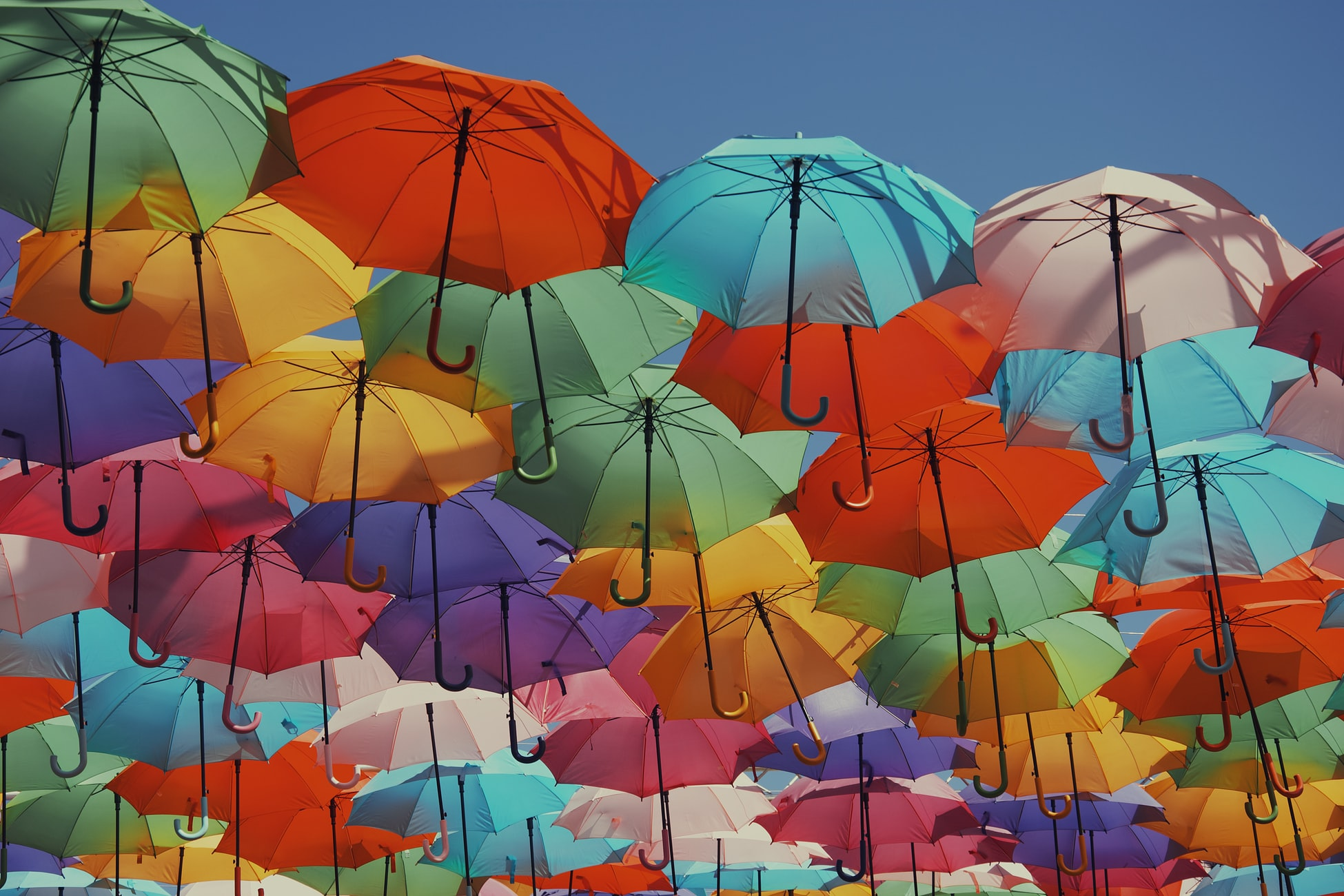 umbrella art in Aix-en-Provence, France