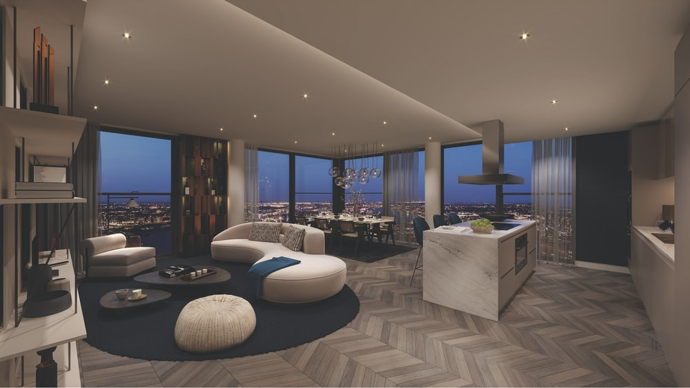 inside condominium unit