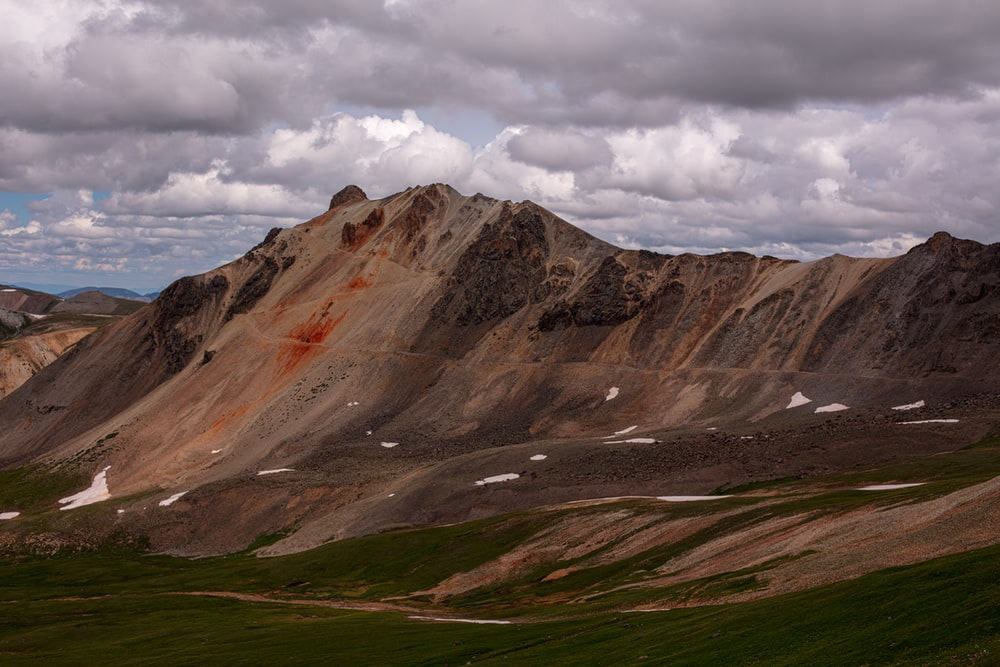 landscape photo of brown and gray mountains