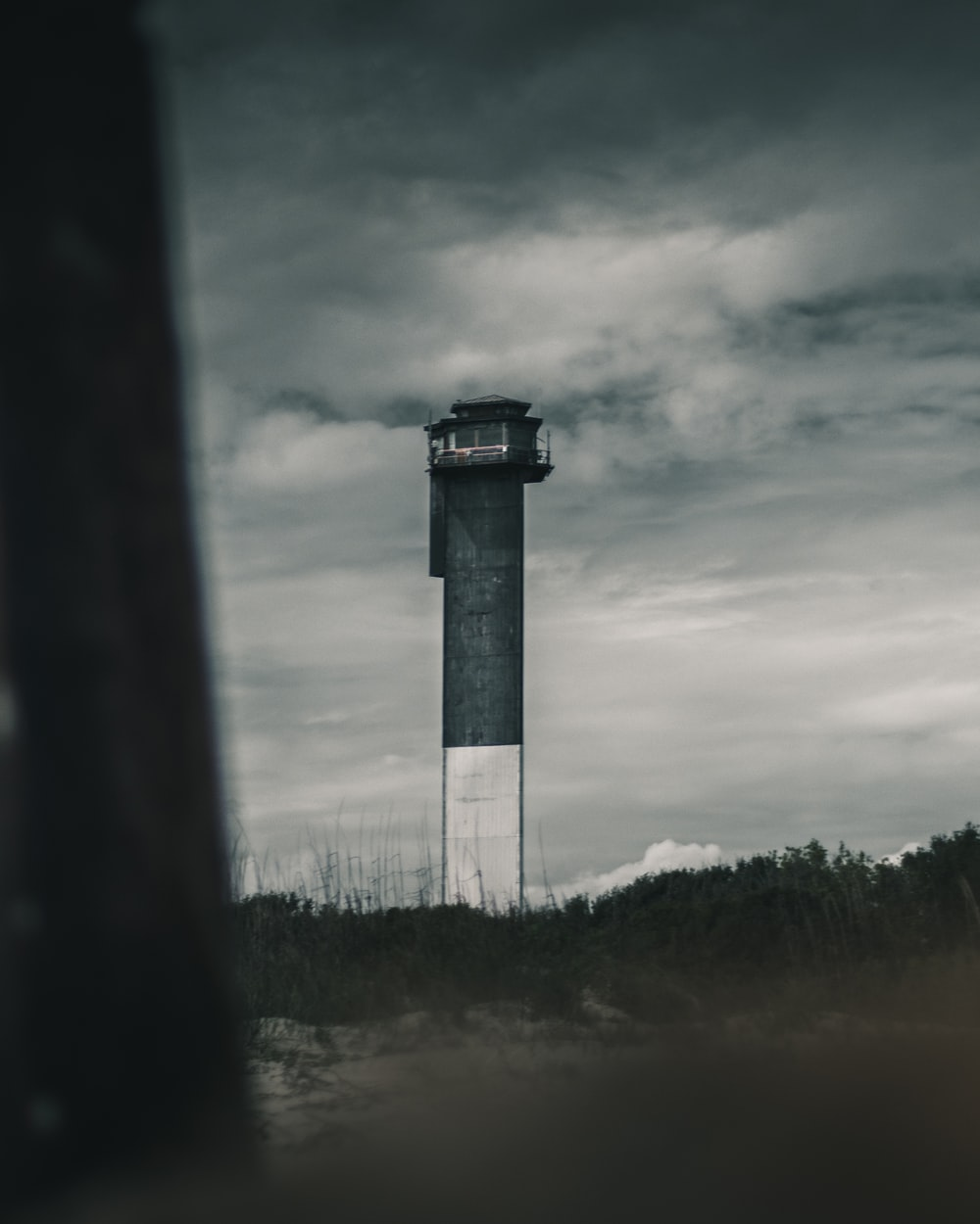 grayscale photography of lighthouse