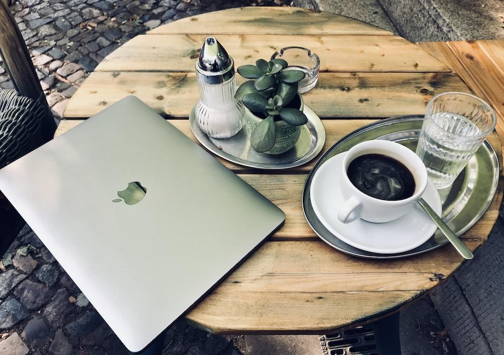 MacBook air on top of table