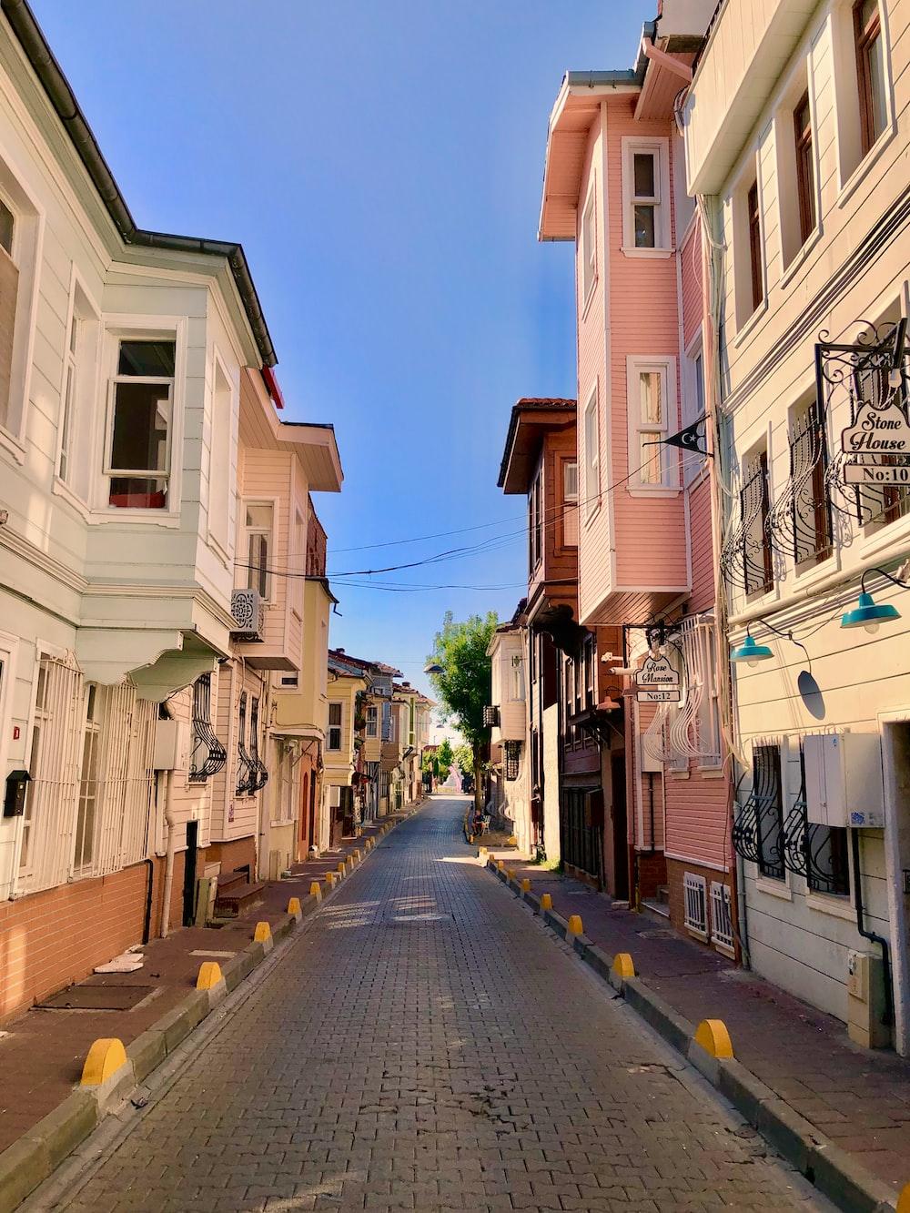 empty streets between houses