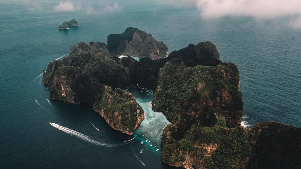 selective focus photography of island during daytime