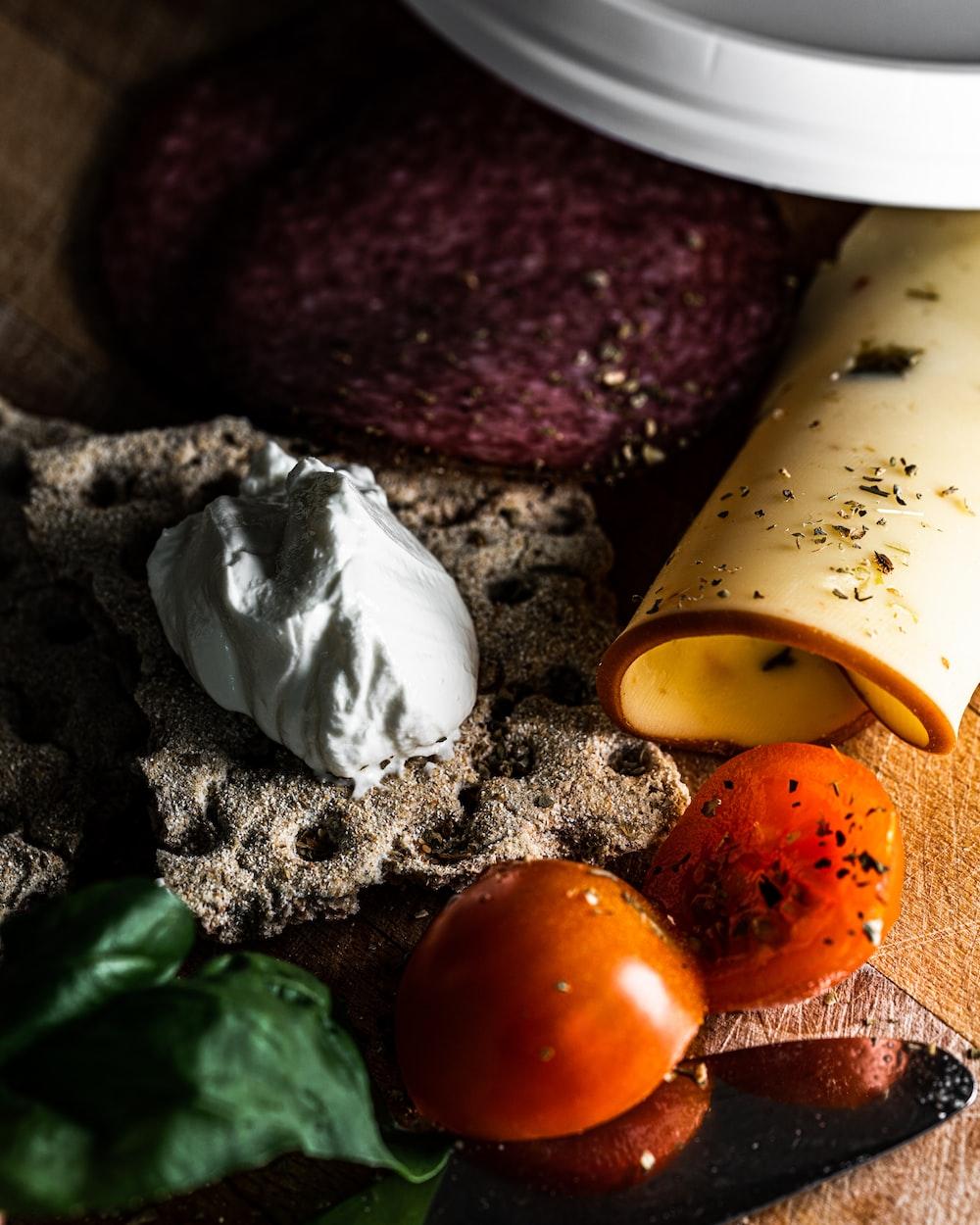 cheese near tomatoes